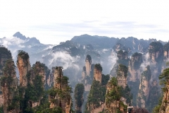 I pilastri di quarzareniti di Wulingyuan, Cina