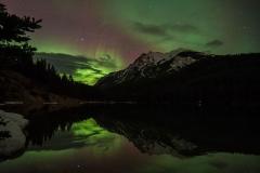 Aurora boreale nel Parco nazionale Banff, Canada