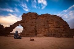 Arco di Tikoubaouine nel Parco Nazionale Tassili n'Ajjer (Algeria).